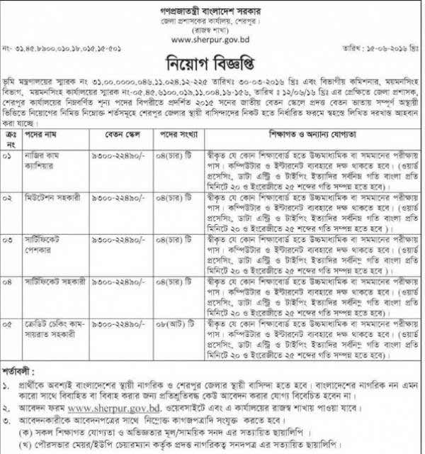 Deputy Commissioner Office Job
