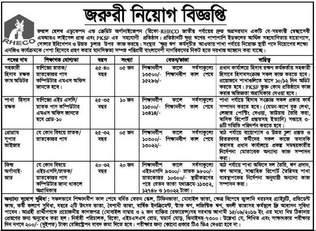 NGO jobs Circular